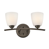 Kichler 45359OZ Granby 2 Light 17 inch Olde Bronze Bath Vanity Wall Light
