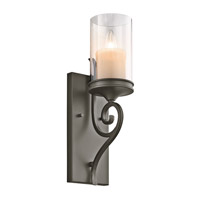 Kichler Lighting Lara 1 Light Wall Sconce in Shadow Bronze 45362SWZ