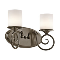 Kichler Lighting Lara 2 Light Bath Vanity in Shadow Bronze 45363SWZ