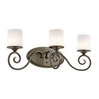 Kichler Lighting Lara 3 Light Bath Vanity in Shadow Bronze 45364SWZ photo thumbnail
