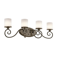 Kichler Lighting Lara 4 Light Bath Vanity in Shadow Bronze 45365SWZ