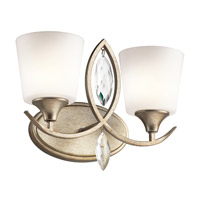 Kichler 45371SGD Casilda 2 Light 15 inch Sterling Gold Bath Light Wall Light