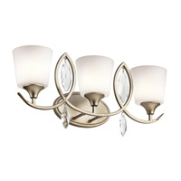 Kichler 45372SGD Casilda 3 Light 24 inch Sterling Gold Bath Light Wall Light
