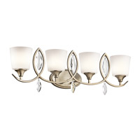 Kichler 45373SGD Casilda 4 Light 33 inch Sterling Gold Bath Light Wall Light