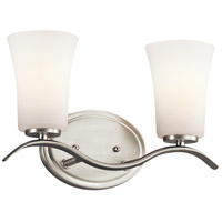 Kichler 45375NIFL Armida 2 Light 14 inch Brushed Nickel Wall Mt Bath 2 Arm Wall Light in Standard