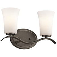 Kichler 45375OZFL Armida 2 Light 14 inch Olde Bronze Wall Mt Bath 2 Arm Wall Light in Standard
