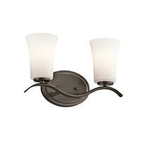 Armida 2 Light 14 inch Olde Bronze Vanity Light Wall Light in LED
