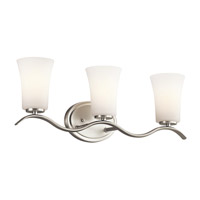 Armida 3 Light 23 inch Brushed Nickel Wall Mt Bath 3 Arm Wall Light in Standard