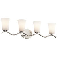 Kichler 45377NIFL Armida 4 Light 32 inch Brushed Nickel Wall Mt Bath 4 Arm Wall Light in Standard