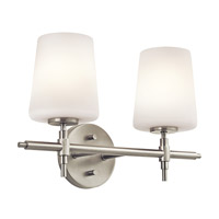 Kichler Lighting Builder Arvella 2 Light Bath Vanity in Brushed Nickel 45386NI