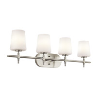 Kichler Lighting Builder Arvella 4 Light Bath Vanity in Brushed Nickel 45388NI