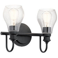 Kichler Black Steel Bathroom Vanity Lights