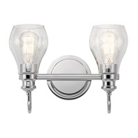 Kichler 45391CH Greenbrier 2 Light 14 inch Chrome Vanity Light Wall Light