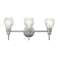 Greenbrier 3 Light 24 inch Chrome Vanity Light Wall Light