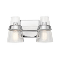 Kichler 45396CH Reese 2 Light 15 inch Chrome Vanity Light Wall Light