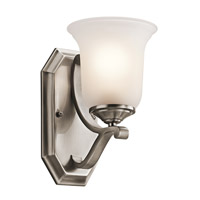 Kichler Lighting Wellington Square 1 Light Wall Sconce in Classic Pewter 45401CLP