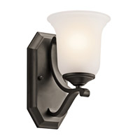 Kichler Lighting Wellington Square 1 Light Wall Sconce in Olde Bronze 45401OZ photo thumbnail