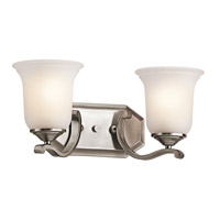 Kichler 45402CLP Wellington Square 2 Light 16 inch Classic Pewter Bath Vanity Wall Light photo thumbnail