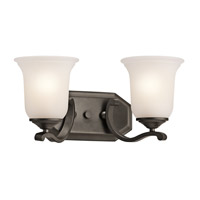 Kichler 45402OZ Wellington Square 2 Light 16 inch Olde Bronze Bath Vanity Wall Light