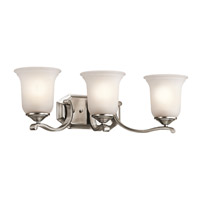 Kichler Lighting Wellington Square 3 Light Bath Vanity in Classic Pewter 45403CLP