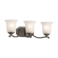 Kichler Lighting Wellington Square 3 Light Bath Vanity in Olde Bronze 45403OZ photo thumbnail