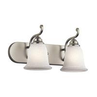 Kichler 45422NI Camerena 2 Light 18 inch Brushed Nickel Vanity Light Wall Light in White Scavo