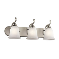 Camerena 3 Light 24 inch Brushed Nickel Bath Wall Wall Light