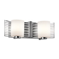 Kichler 45432CH Selene 2 Light 16 inch Chrome Bath Bracket Wall Light