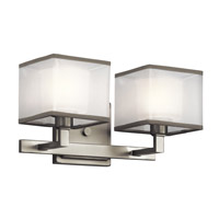 Kichler Kailey 2 Light Wall Mt Bath 2 Arm in Brushed Nickel 45438NI