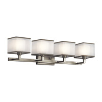 Kichler Kailey 4 Light Wall Mt Bath 4 Arm in Brushed Nickel 45440NI