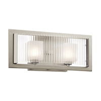 Kichler Rigate 2 Light Wall Mt Bath 2 Arm in Brushed Nickel 45442NI