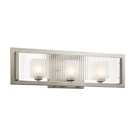 Kichler Rigate 3 Light Wall Mt Bath 3 Arm in Brushed Nickel 45443NI photo thumbnail