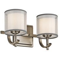 Tallie 2 Light 13 inch Antique Pewter Vanity Light Wall Light