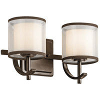 Tallie 2 Light 13 inch Mission Bronze Vanity Light Wall Light