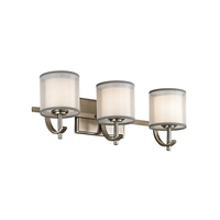 Tallie 3 Light 21 inch Antique Pewter Vanity Light Wall Light