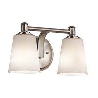 Kichler Quincy 2 Light Wall Mt Bath 2 Arm in Classic Pewter 45454CLP