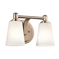 Kichler Quincy 2 Light Wall Mt Bath 2 Arm in Classic Bronze 45454CLZ
