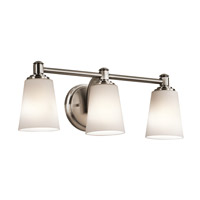 Kichler Quincy 3 Light Wall Mt Bath 3 Arm in Classic Pewter 45455CLP