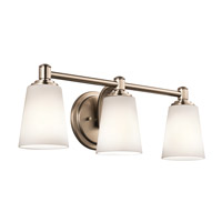 Kichler Quincy 3 Light Wall Mt Bath 3 Arm in Classic Bronze 45455CLZ