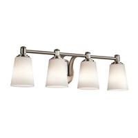 Kichler Quincy 4 Light Wall Mt Bath 4 Arm in Classic Pewter 45456CLP