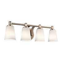 Kichler Quincy 4 Light Wall Mt Bath 4 Arm in Classic Bronze 45456CLZ