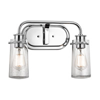 Kichler 45458CH Braelyn 2 Light 15 inch Chrome Bath Bracket Wall Light