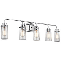 Kichler 45461CH Braelyn 5 Light 44 inch Chrome Bath Vanity Wall Light