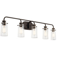 Kichler 45461OZ Braelyn 5 Light 44 inch Olde Bronze Bath Vanity Wall Light