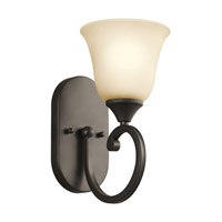 Kichler Lighting Builder Feville 1 Light Wall Sconce in Olde Bronze 45473OZ photo thumbnail