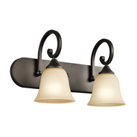 Kichler Lighting Builder Feville 2 Light Bath Vanity in Olde Bronze 45474OZ photo thumbnail