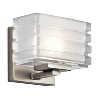 Kichler Bazely 1 Light Wall Bracket in Brushed Nickel 45477NI