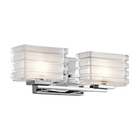 Kichler Bazely 2 Light Bath Vanity in Chrome 45478CH