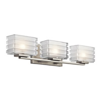 Kichler Bazely 3 Light Wall Mt Bath 3 Arm in Brushed Nickel 45479NI