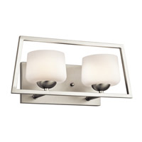 Kalel 2 Light 17 inch Brushed Nickel Bath Bracket Wall Light